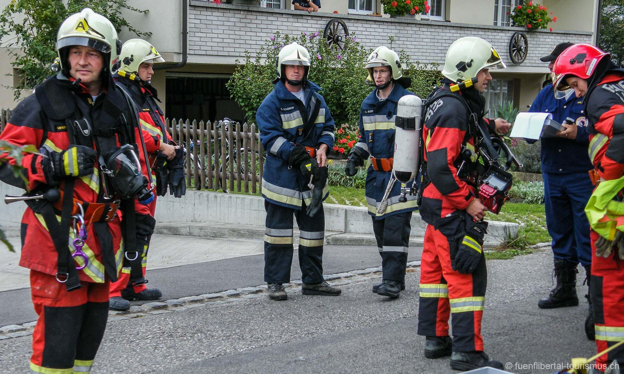Hauptübung Feuerwehr Bubendorf 2009